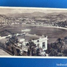 Postales: SAN SEBASTIAN POSTAL ALBUMINA PAIS VASCO VISTA DESDE MONTE I. Lote 176491987