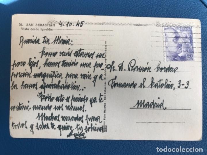 Postales: San sebastian postal albumina pais vasco VISTA DESDE MONTE I - Foto 2 - 176491987
