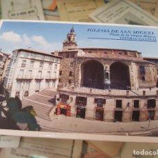 Postales: POSTALES IGLESIA DE SAN MIGUEL VITORIA GASTEIZ. Lote 177467732