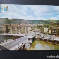 Postales: BILBAO AYUNTAMIENTO Y PUENTE DEL GENERAL MOLA. Lote 177685578