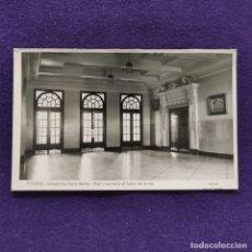 Postales: POSTAL DE VITORIA (ALAVA). COLEGIO DE SANTA MARIA. HALL Y ENTRADA SALON DE ACTOS. AÑOS 50. Lote 177699662