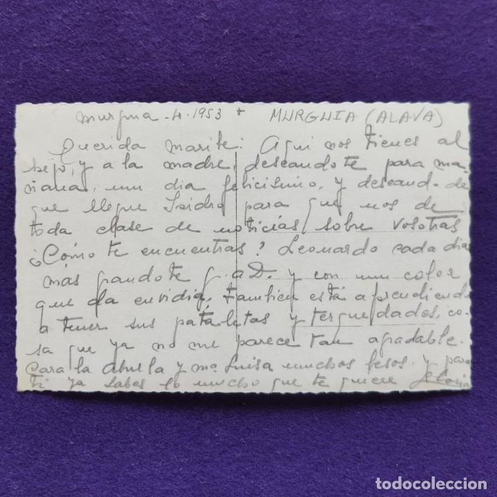 Postales: POSTAL DE MURGUIA (ALAVA). N°36 RIO BAYAS. AÑOS 50. COLECCION ARESO - Foto 2 - 177704394