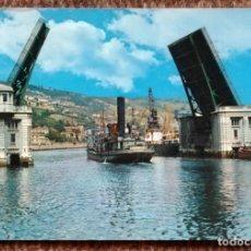 Postales: BILBAO - PUENTE BASCULANTE DEL GENERALISIMO. Lote 177987034