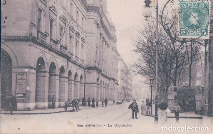 POSTAL SAN SEBASTIAN - LA DIPUTACION - E J D PARIS - CIRCULADA (Postales - España - Pais Vasco Antigua (hasta 1939))