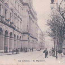 Postales: POSTAL SAN SEBASTIAN - LA DIPUTACION - E J D PARIS - CIRCULADA. Lote 178068850