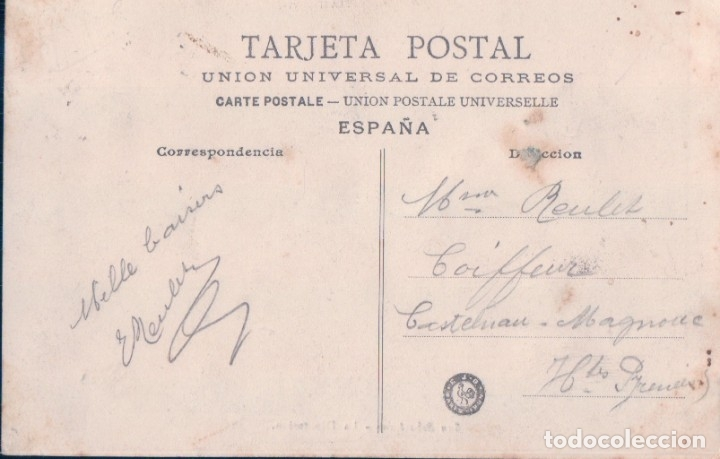 Postales: POSTAL SAN SEBASTIAN - LA DIPUTACION - E J D PARIS - CIRCULADA - Foto 3 - 178068850