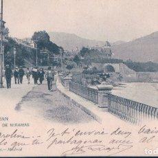 Postales: POSTAL 355 HAUSER Y MENET SAN SEBASTIAN - PALACIO DE MIRAMAR - CIRCULADA SELLO ALFONSO XIII . Lote 178120363