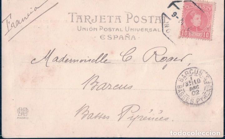 Postales: POSTAL 355 HAUSER Y MENET SAN SEBASTIAN - PALACIO DE MIRAMAR - CIRCULADA SELLO ALFONSO XIII - Foto 2 - 178120363