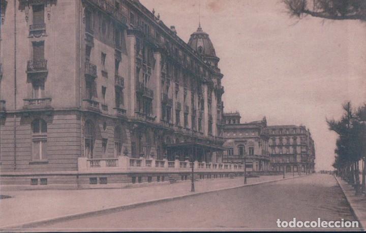 POSTAL SAN SEBASTIAN - PASEO DE LA REPUBLICA ARGENTINA Y HOTEL CRISTINA - 81 GRAFOS MADRID (Postales - España - Pais Vasco Antigua (hasta 1939))