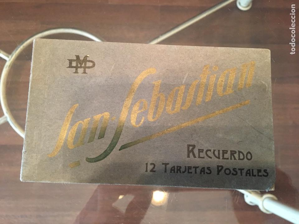 BLOCK 12 POSTALES COMPLETO SAN SEBASTIÁN - RECUERDO - DELBOY (Postales - España - Pais Vasco Antigua (hasta 1939))