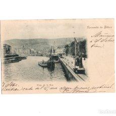 Postales: BILBAO.(VIZCAYA).- VISTA DE LA RÍA. RECUERDO DE BILBAO.. Lote 178379212