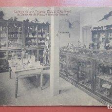 Postales: DEUSTO (BILBAO) COLEGIO SAN ANTONIO. GABINETE DE FÍSICA E HISTORIA NATURAL. Lote 178615478