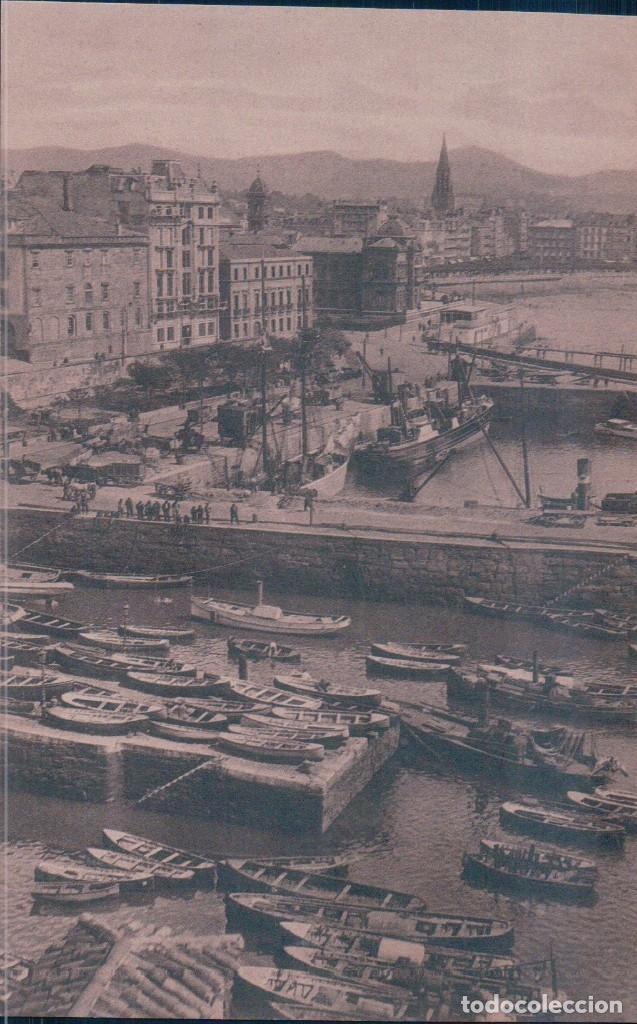 POSTAL DE SAN SEBASTIAN. EL PUERTO. ED. GRAFOS 88 (Postales - España - Pais Vasco Antigua (hasta 1939))