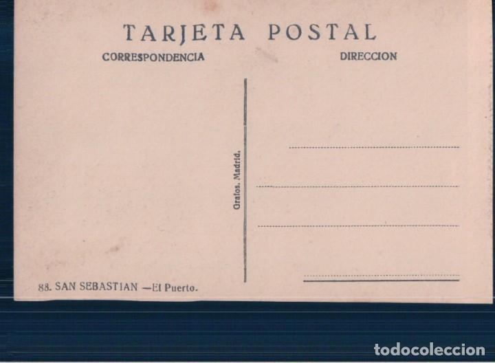 Postales: POSTAL DE SAN SEBASTIAN. EL PUERTO. ED. GRAFOS 88 - Foto 2 - 178686218