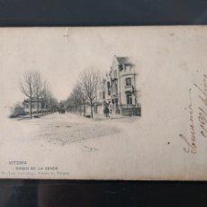 Postales: VITORIA PASEO DE LA SENDA , PAÍS VASCO, SIN DIVIDIR. Lote 178688058