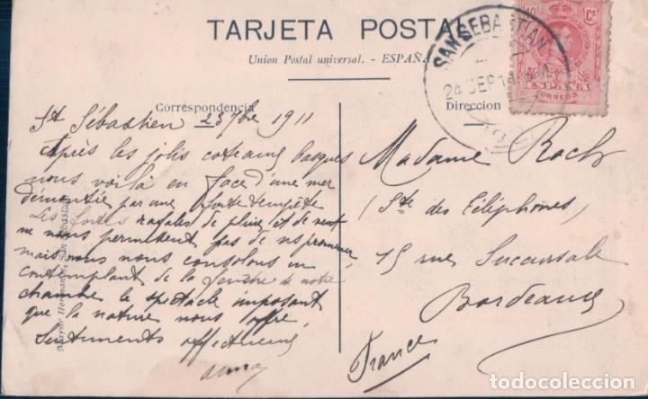 Postales: POSTAL SAN SEBASTIAN - VISTA DEL CASINO Y PLAYA - 20 MAYOR HERMANOS - CIRCULADA - Foto 2 - 178689312