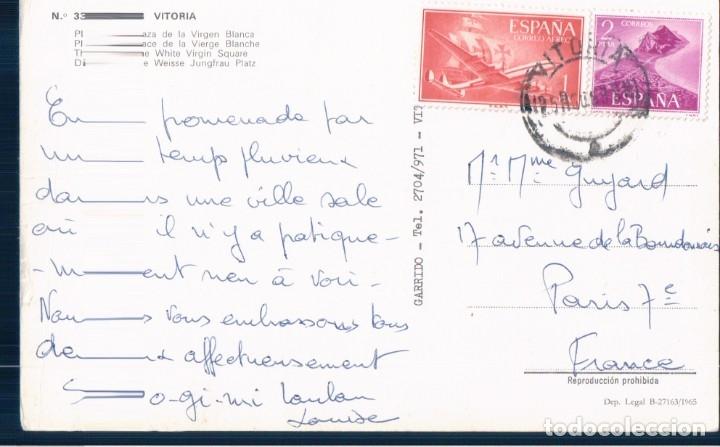 Postales: postal vitoria - plaza de la virgen blanca - 33 garrido - circulada - Foto 2 - 178824946