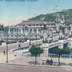 Postales: POSTAL 181 SAN SEBASTIAN.- PUENTE DE LA ZURRIOLA Y KURSAAL. FOTO ED. GALARZA. Lote 178977793