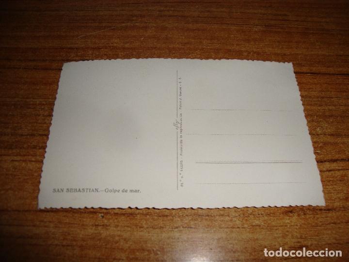 Postales: (ALB-TC-202) POSTAL SAN SEBASTIAN GOLPE DE MAR - Foto 2 - 179031940