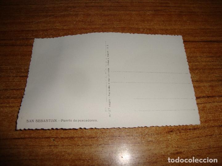 Postales: (ALB-TC-202) POSTAL SAN SEBASTIAN PUERTO DE PESCADORES - Foto 2 - 179032182