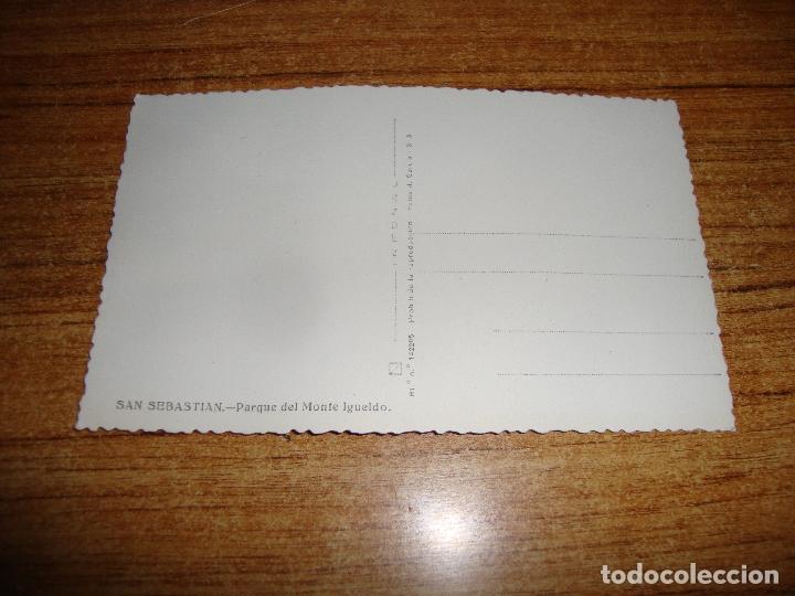 Postales: (ALB-TC-202) POSTAL SAN SEBASTIAN PARQUE DEL MONTE IGUELDO - Foto 2 - 179032426