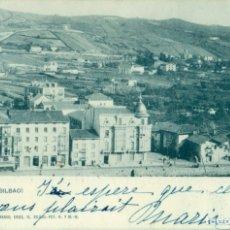 Postales: DEUSTO BILBAO. CIRCULADA EN 1900 CON DOS PELONES.. Lote 179069533