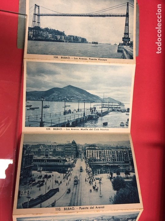 Postales: BLOC DE 16 VISTAS AZUL DE BILBAO L. ROLSIN FOT. POSTALES ACORDEON - Foto 7 - 179942806