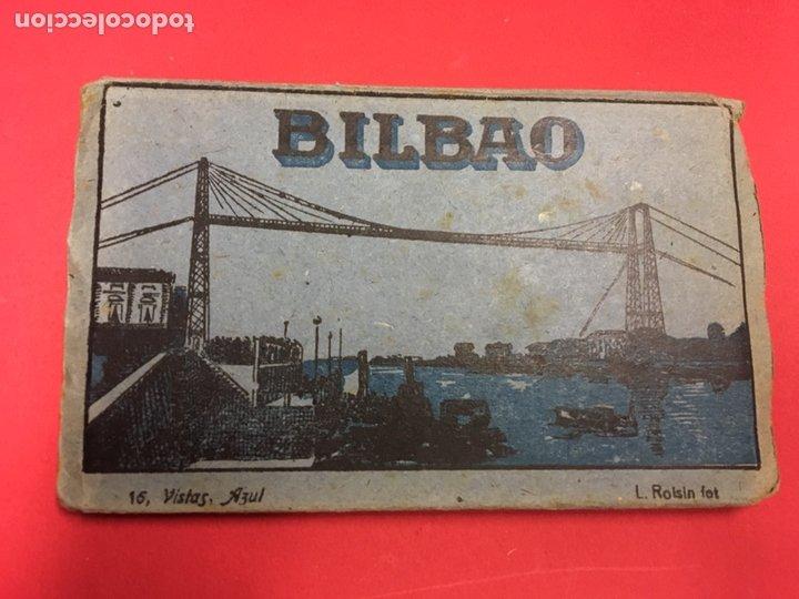 BLOC DE 16 VISTAS AZUL DE BILBAO L. ROLSIN FOT. POSTALES ACORDEON (Postales - España - País Vasco Moderna (desde 1940))
