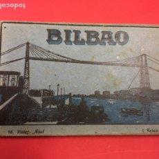 Postales: BLOC DE 16 VISTAS AZUL DE BILBAO L. ROLSIN FOT. POSTALES ACORDEON. Lote 179942806