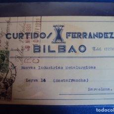 Postales: (PS-61904)POSTAL DE BILBAO-CURTIDOS FERRANDEZ. Lote 179964503