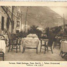 Postales: GUIPUZCOA TOLOSA HOTEL EREÑAGA SIN ESCRIBIR. Lote 180265050