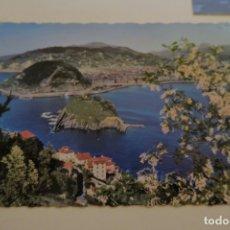 Postales: SAN SEBASTIÁN VUE GÉNERALE DE LA BAIE 101 FOTO WILLY KOCH. Lote 180283618