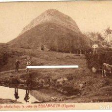 Cartes Postales: RARA POSTAL - PAISAJE OTOÑAL BAJO LA PEÑA DE EGUARBITZA - ELGUETA (GUIPUZCOA). Lote 181422012
