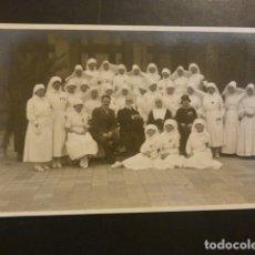 Postales: SAN SEBASTIAN HOSPITAL HERIDOS GUERRA DE MARRUECOS ENFERMERAS CRUZ ROJA Y AUTORIDADES. Lote 182171807