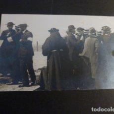 Postales: SAN SEBASTIAN RELIGIOSOS Y AUTORIDADES ESPERANDO LA LLEGADA DE HERIDOS DE LA GUERRA DE AFRICA. Lote 182329771