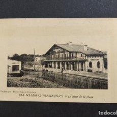 Postales: HENDAIA-HENDAYA-ESTACION DEL FERROCARRIL EN LA PLAYA-VER REVERSO-(63.867). Lote 182422422