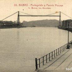 Postales: BILBAO. PORTUGALETE Y PUENTE VIZCAYA. Lote 182482803