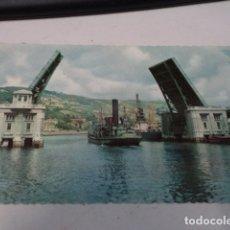 Postales: VIZCAYA - POSTAL BILBAO - PUENTE BASCULANTE DEL GENERALÍSIMO. Lote 182600082