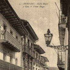 Postales: HERNANI CALLE MAYOR Y CASA + VICTOR HUGO. Lote 182738623