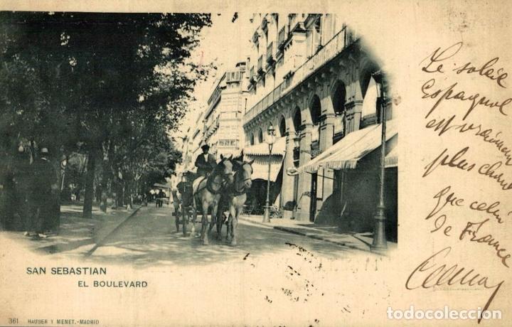 SAN SEBASTIAN. EL BOULEVARD (Postales - España - Pais Vasco Antigua (hasta 1939))