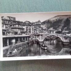 Postales: POSTAL ONDARROA (VIZCAYA). PUENTE Y PESCADERIA. Lote 182759005