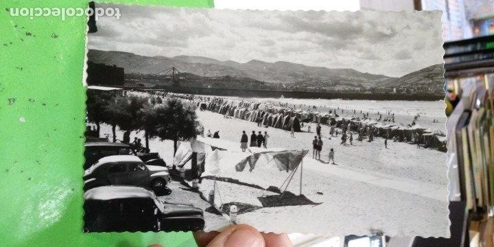 POSTAL ALGORTA PLAYA 1959 ESCRITA Y SELLADA (Postales - España - País Vasco Moderna (desde 1940))