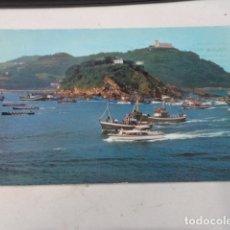 Postales: GUIPÚZCOA - POSTAL SAN SEBASTIÁN - REGATA DE TRAINERAS. Lote 182883586