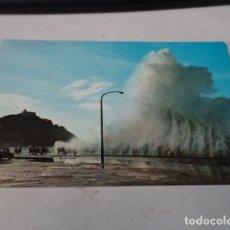 Postales: GUIPÚZCOA - POSTAL SAN SEBASTIÁN - TEMPORAL EN EL PASEO NUEVO. Lote 182886223