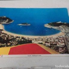 Postales: GUIPÚZCOA - POSTAL SAN SEBASTIÁN - VISTA GENERAL AÉREA. Lote 182886377