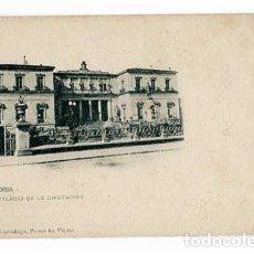 Postales: VITORIA PALACIO DE LA DIPUTACIÓN ED. PIO LUIS LARRAÑAGA. REVERSO SIN DIVIDIR. SIN CIRCULAR. Lote 182897370