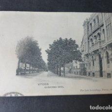 Postales: VITORIA GOBIERNO CIVIL ED. PIO LUIS LARRAÑAGA DIVIDIDO. Lote 182909270