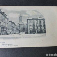 Postales: VITORIA PLAZA DE BILBAO ED. PIO LUIS LARRAÑAGA SIN DIVIDIR. Lote 182909360