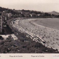 Postales: SAN SEBASTIÁN - PLAYA DE LA CONCHA - ED. MANIPEL. Lote 182997265