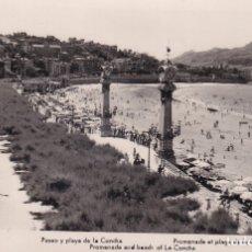 Postales: SAN SEBASTIÁN - PASEO Y PLAYA DE LA CONCHA - ED. MANIPEL. Lote 182997968